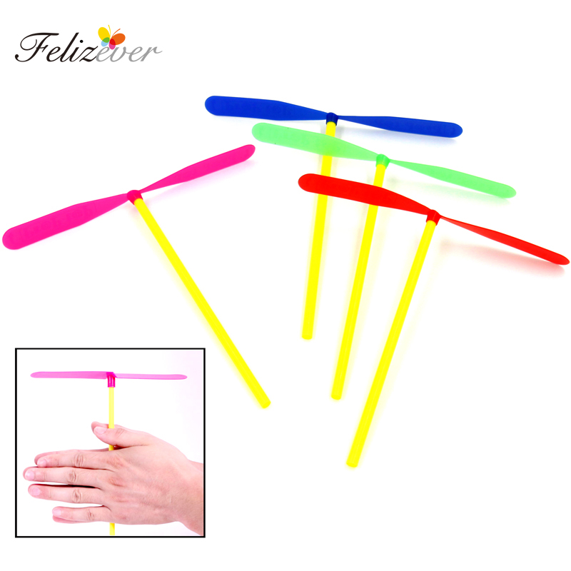 24PCS Plastic Dragonfly Assortment Mini Whirl A Copter Helicopter Gift Toys Birthday Pinata Fillers For Kids Boy Party Favor Bag