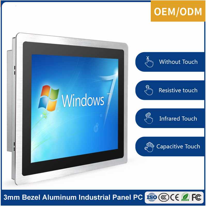 Aluminum Alloy Enclosure Sensitive Touch Screen Fanless Industrial Pc 15 Inch Tablet Android