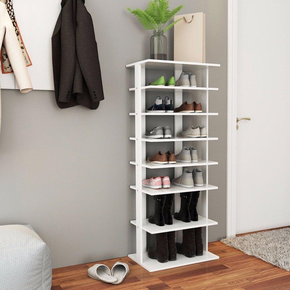 Giantex деревянная обувь хранения стоять 7 ярусов большой шкаф для обуви Организатор Multi-сушилка для обуви новый дом, мебель HW57381