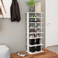 Giantex Wooden Shoes Storage Stand 7 Tiers Big Shoe Rack Organizer Multi Shoe Rack New Home Furniture HW57381