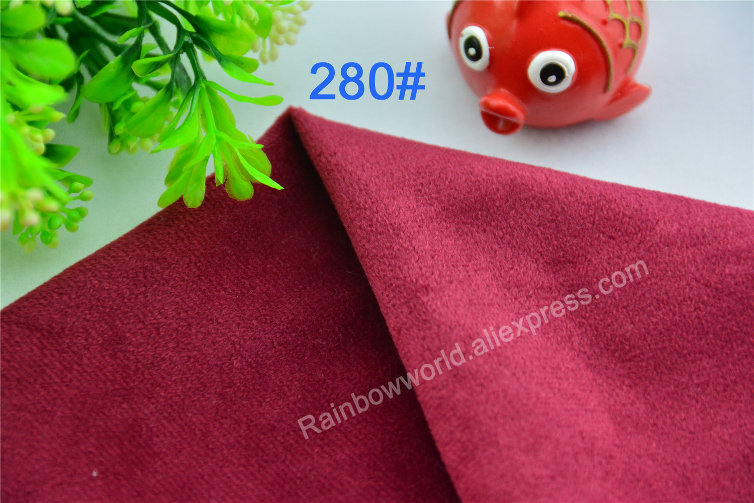 280# Wine Red Color Super Soft Short Hair 0.5-1.5mm Fleece Fabric Velvet Microfiber Velboa for DIY Patchwork Toy Sofa Pillow