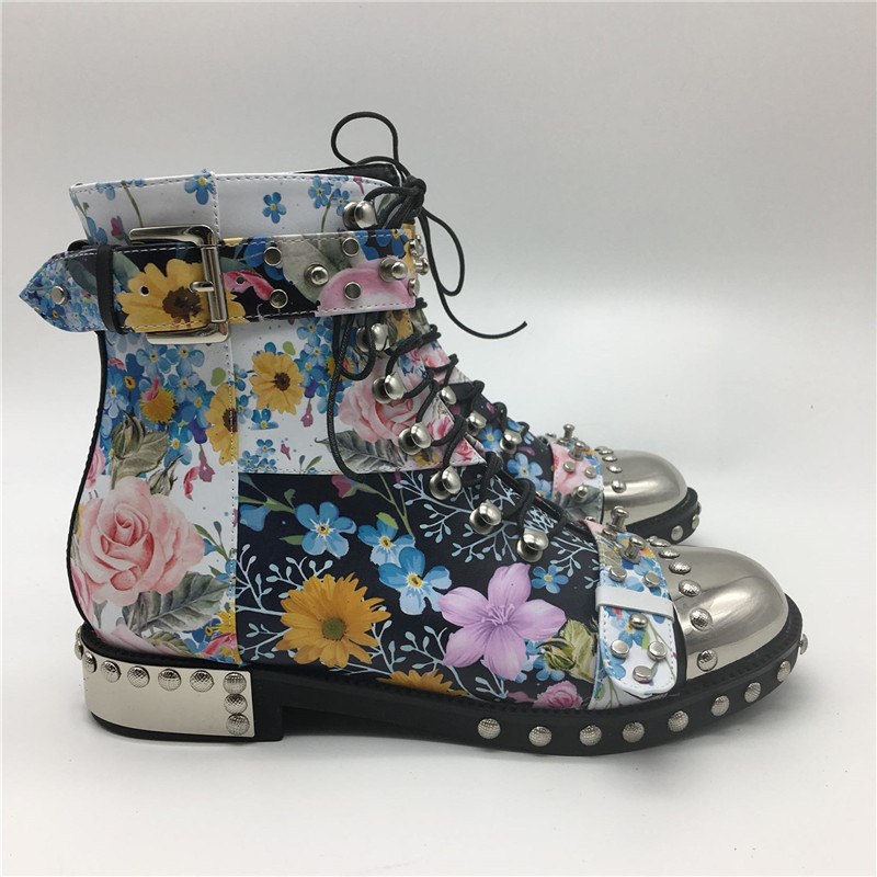 Punk-Style-Colorful-Printed-Color-Motorcycle-Boots-Studded-Buckle-Cross-tied-Metal-Decor-Rivet-Ankle-Boots (5)