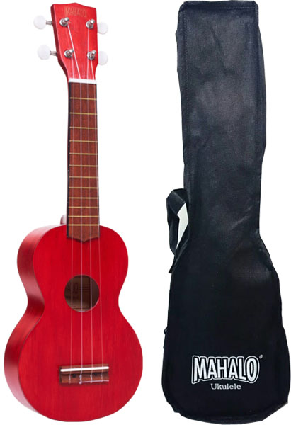 Mahalo MK1TRD Ukulele soprano with case, color Transparent Red series Kahiko microcontroller 24 93 series eeprom programmer sp200se sp200s with isp interface red