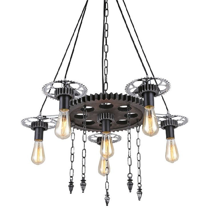 Industrial Fenghuang Gear pendant lights Retro Living Room Creative Restaurant Clothing Store Lighting pendant lamps ZA GY281 цена
