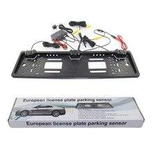 Car Licence Plate Camera Parking Sensor LED Display Universal Video Parking Assistance Reversing Radar Rear View Alarm System