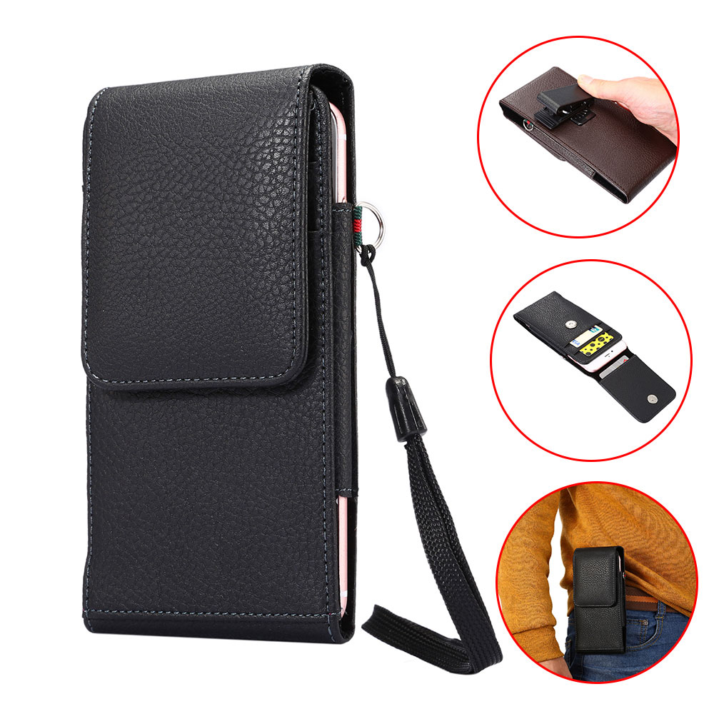 Boucho pouch PU leather phone flip multifunction cover phone holster mobile bag For iphone 7 7plus for iphone 5s 5 SE 6 6s 6plus