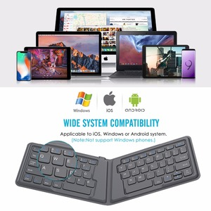 Image 4 - MoKo אלחוטי Bluetooth מקלדת, דק מתקפל נטענת מקלדת עבור iPhone,iPad 9.7, iPad פרו, אש HD 10, עבור כל iOS
