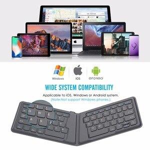 Image 4 - MoKo Wireless Bluetooth Keyboard,Ultra Thin Foldable Rechargeable Keyboard for iPhone,iPad 9.7, iPad pro, Fire HD 10,for All iOS