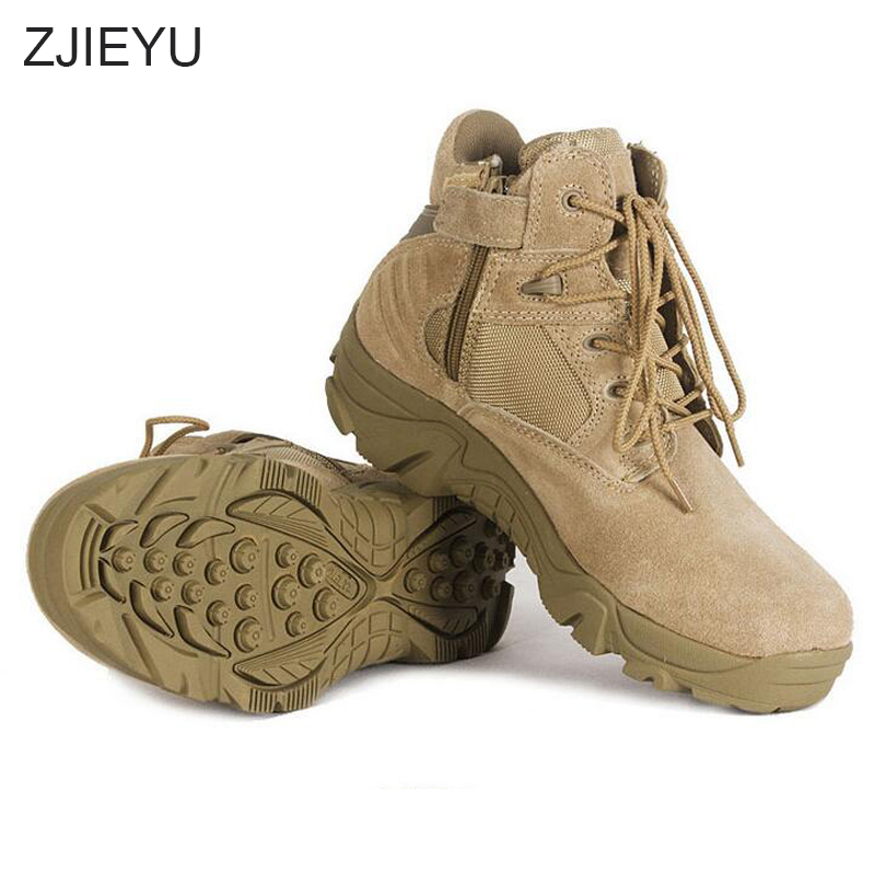 Top Genuine leather kamuflaj bot Military Boots Vintage Lace Up Men Tactical bots Solid Durable Army bot Short Boots Men