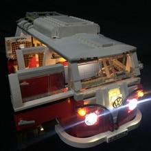 Обновлен светодиодный свет комплект для lego10220/21001 с логотипом светло и кабина кнопки совместима с T1 Camper Van