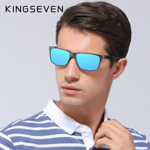 Image 2 - Kingseven真新しい偏光サングラス男性ユニセックスメタルフレーム運転メガネ女性レトロなサングラスgafas