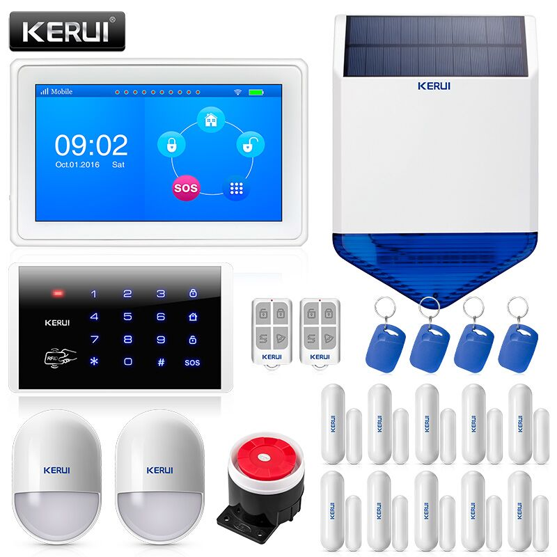 KERUI K7 Maison WIFI Alarme Systèmes Costume 7-Pouces TFT Écran Couleur GSM Smart Security Résidentiel Alarmas De Seguridad par Casa