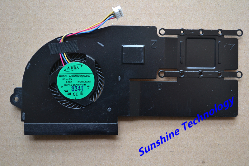 New laptop cpu cooling fan with heatsink for ASUS X202 S200E ASUS X202E Q200E boxy x202 lb