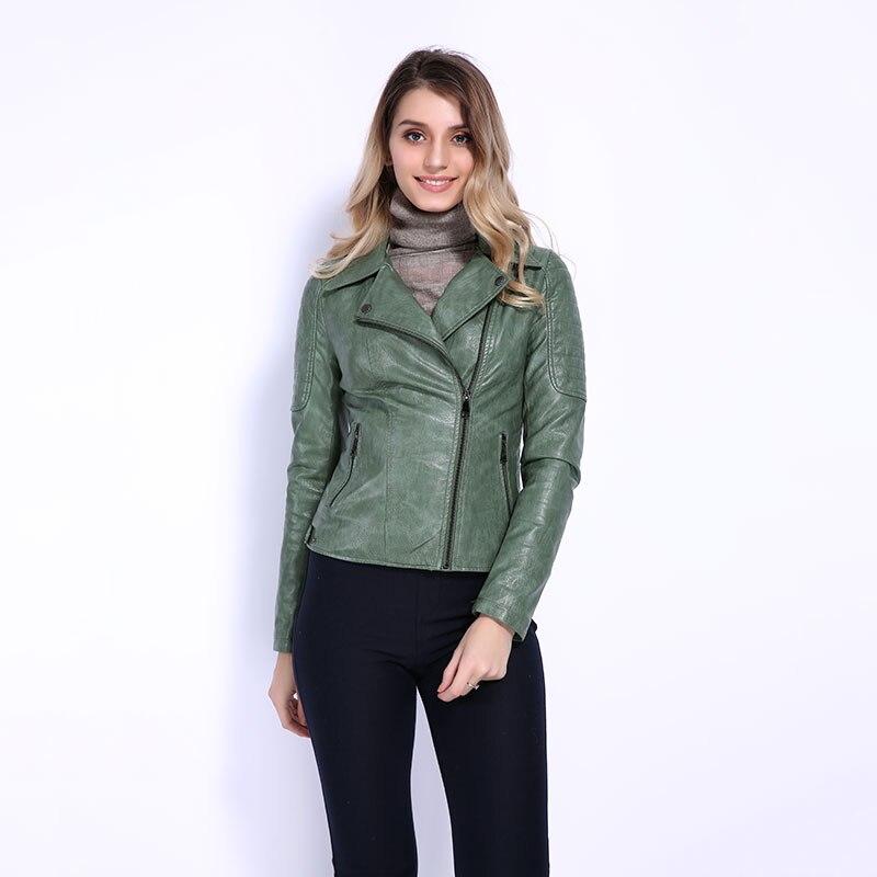 AORRYVLA 2019 New Fashion Women PU Leather Jacket Spring Autumn Soft Motorcycle Faux Leather Short Jacket Slim Ladies Jackets