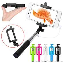 Supreme Lightweight Convenient Wired Handheld Extendable pau de universal selfie stick monopod,Support IOS and Android system(China)