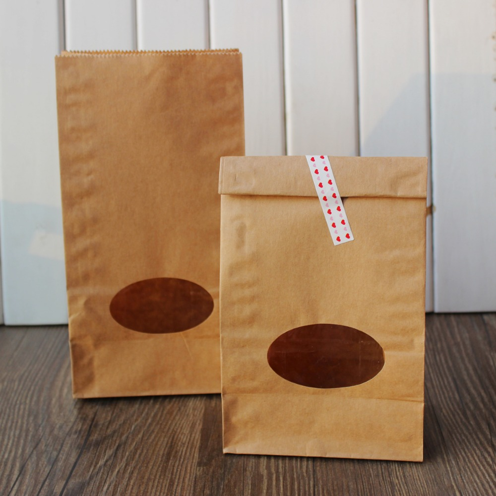 Aliexpress buy kraft paper gift bags stand up paper bags aliexpress buy kraft paper gift bags stand up paper bags partyfavour wedding packaging with window 23x12x75cm 50pcslot from reliable bag f jeuxipadfo Choice Image