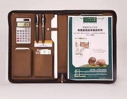 Harphia A4 حقيبة مستندات محفظة بو الجلود حامل ملف مكتب الأعمال الكلاسيكية مدير مجلد حاسبة ملاحظة