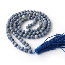 AAA 8mm Tibet Buddhist 108 Blue Prayer Beads Mala Necklace A+09
