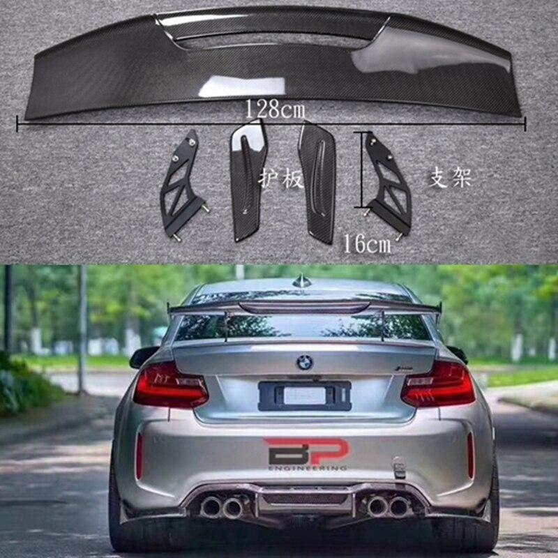 Carbon Fiber CAR REAR WING TRUNK LIP SPOILER FOR BMW M1 M3 M4 M5 M6 1