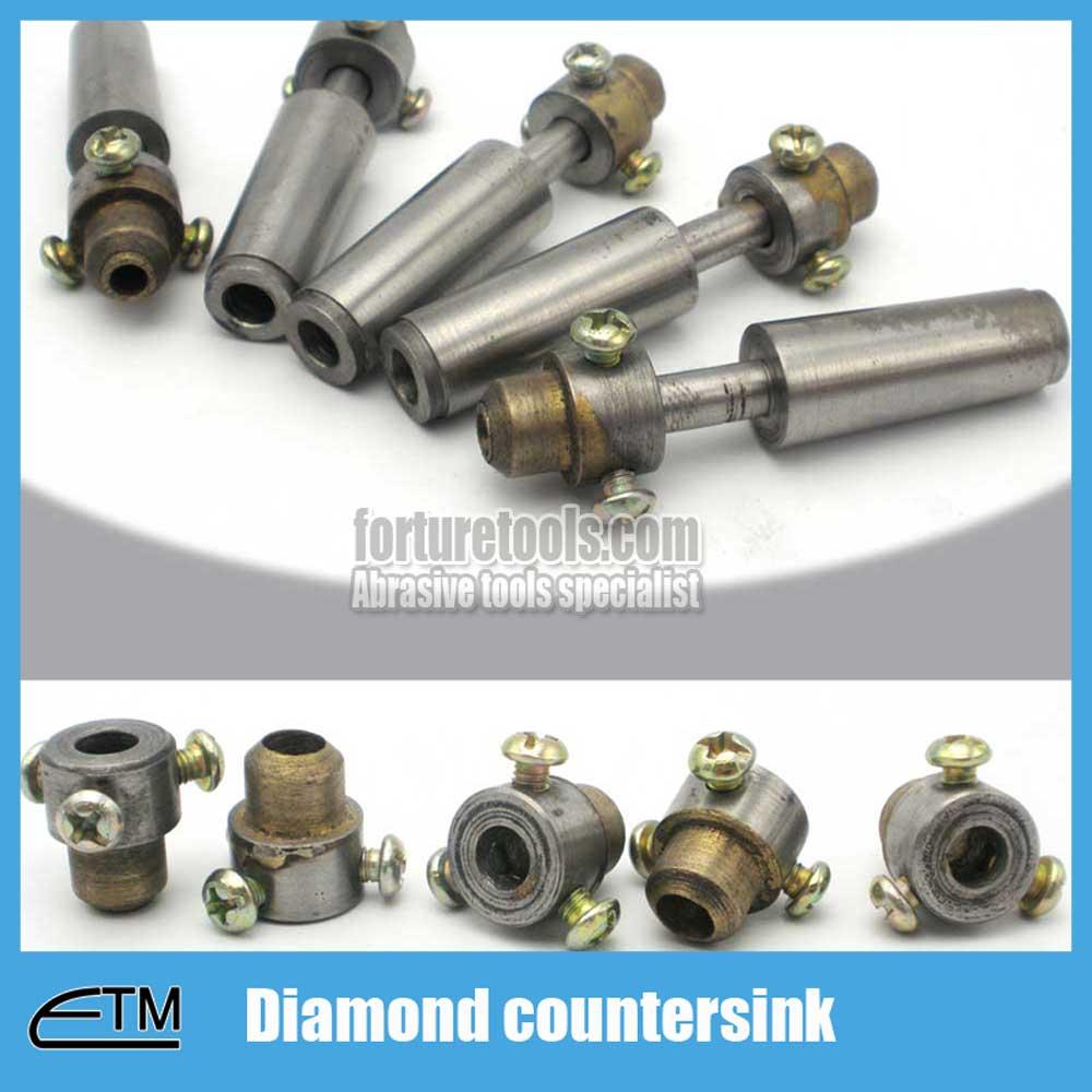 5pcs Sintered diamond countersink for glass countering match with glass drill bit Diameter 24~42mm glass tool zt012