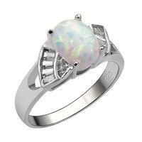 Biały Ogień Opal 925 Sterling Silver Dobrej Jakości Pierścień Hot Prezent dla Mężczyzn i Kobiet Rozmiar 6 7 8 9 10 11 F1565