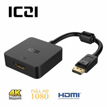 ICZI 4K 30Hz Active DP to HDMI Adapter DisplayPort 1.2 to HDMI 1.4 Gold Plated Converter for PC Laptop Displays Black