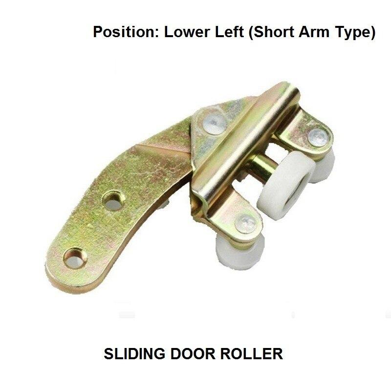 OE# 701843405A For VW Caravelle Transporter T4 Car Sliding Door Roller Bottom Lower Left Short Arm Slider Guide 1990-2004