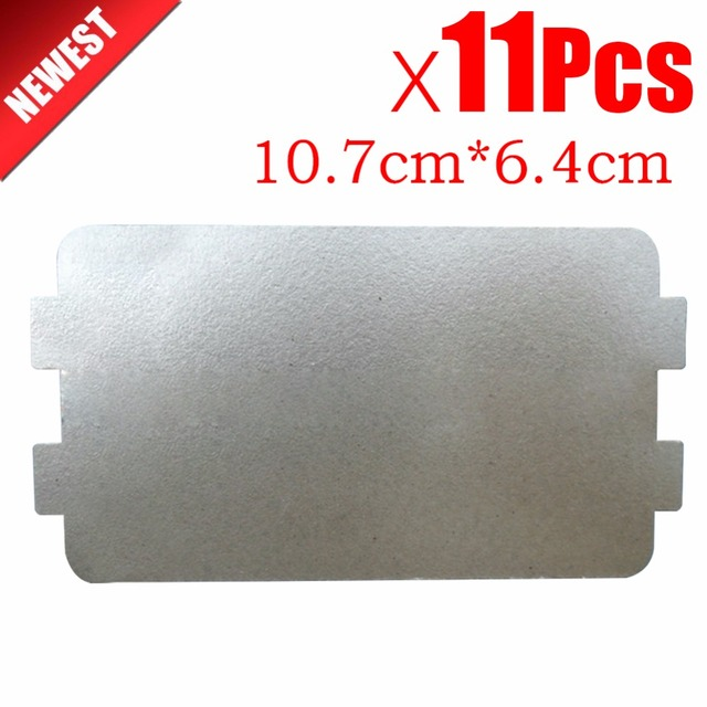 11pcs 10 7cm 6 4cm Spare Parts Thickening Mica Plates Microwave Ovens Sheets For Galanz
