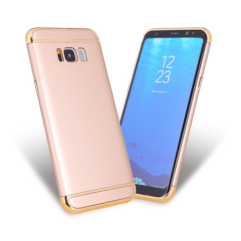 3 Segment Electroplating Gold Frame Hard Plastic Matte Case For Samsung J5 J7 J5 J7 Prime A510 A530 A7 2017 A730 A7 2018 Cover