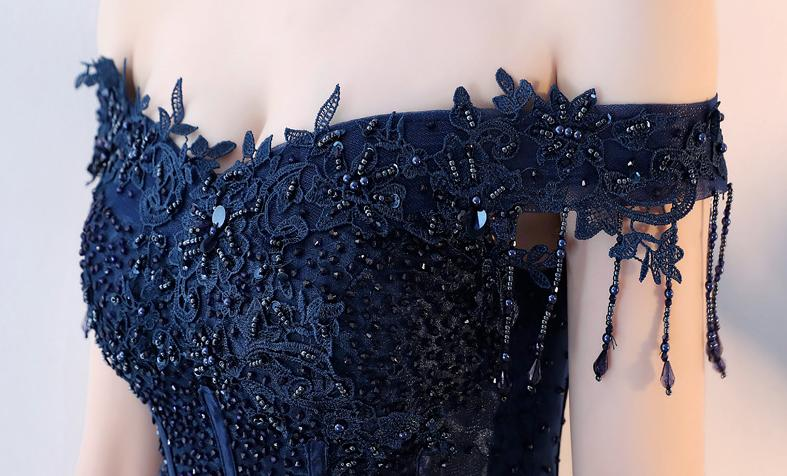 BANVASAC 2018 Tassel Boat Neck Sequined A Line Long Evening Dresses Elegant Lace Beading Backless Party Prom Gowns in Evening Dresses from Weddings Events