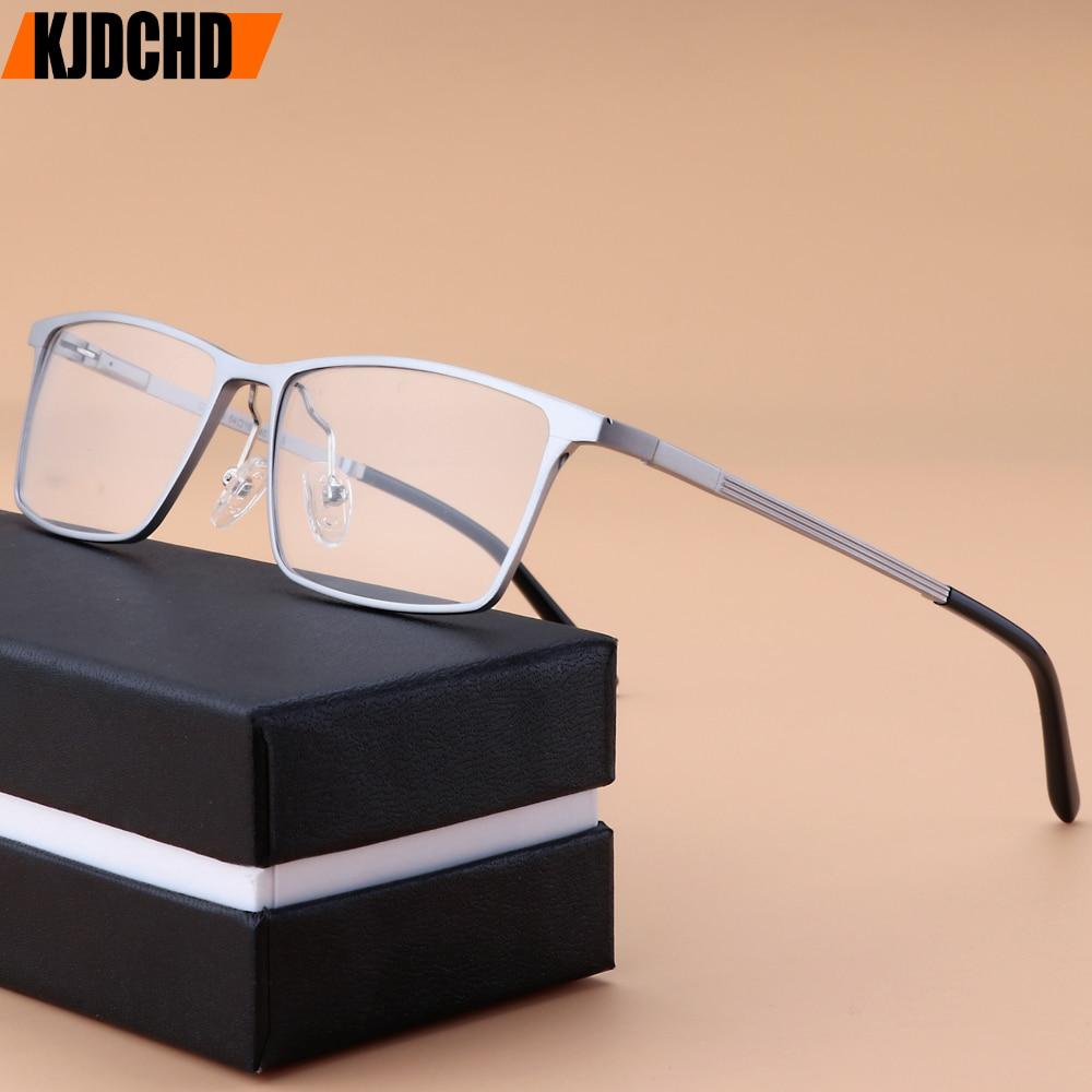 Aluminum Magnesium Glasses Frame Men 2019 New Full Square Myopia Eye Glass Prescription Eyeglasses Frame Optical