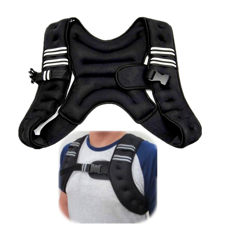 Newest Running Jacket Weighted Vest Exercise Boxing Sanda Training Waistcoat Invisible Outdoor Fitness Equipment Power Sport cotton gloves boxing sanda muay thai bandage tied hands