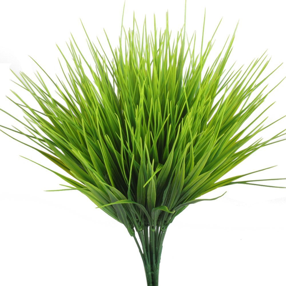 New Artificial Outdoor Plants 4pcs Fake Plastic Greenery