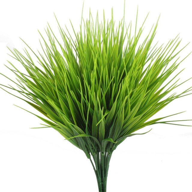 new artificial outdoor plants, 4pcs fake plastic greenery shrubs Artificial Outdoor Shrubs