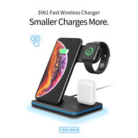 3in 1 Fast Wireless Charger Bracket for iPhone / Apple Watch /Airpods Mobile phone charger for iPhonex xs xr 8 8p Samsung S9 S8