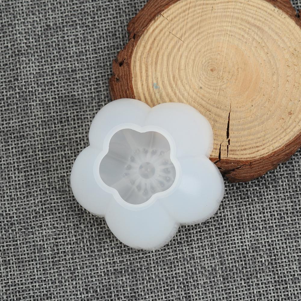 Doreenbeads Silicone Mold For Resin Jewelry Resin Charms Pendant Molds Sakura Flower White Pentagram Star 5.9cm X 5.8cm1 PCs