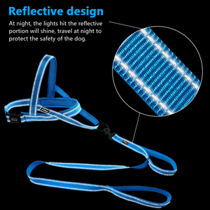 Image 2 - No Pull Reflective Dog Harness Leash Set Pet Vest Lead For Small Meduim Large Dogs Perfect for Daily Training Walking XXS L
