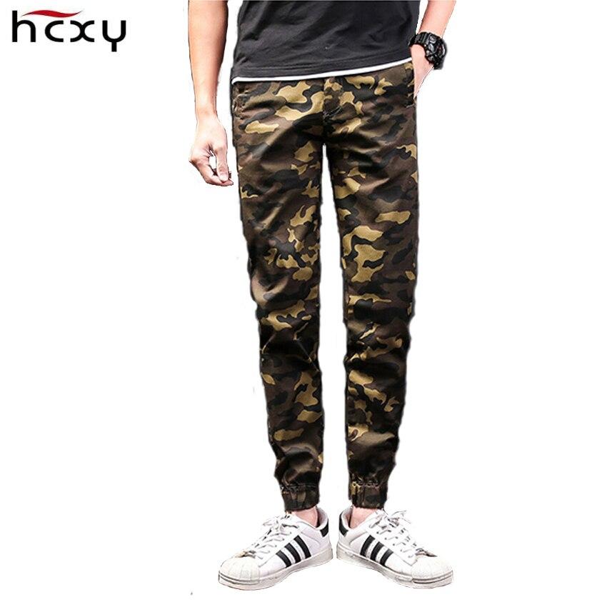 HCXY 2017 décontracté hommes Cargo pantalon été printemps mode Camouflage pantalon pour hommes respirant militaire Camp pantalon