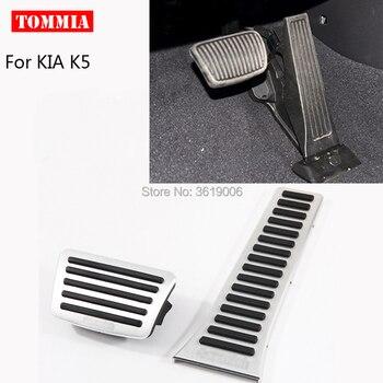 Tommia osłona pedału gazu paliwa hamulca podnóżek obudowa bez wiercenia dla KIA K5 2011-2016 samochodów stylizacji