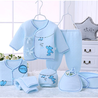 7pcs Set 100 Cotton Keep Warm Material New Born Baby Clothes Full Kits For Kids Cotton