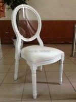 Crystal Transparent Back Wood Louis Chair LQ L5881