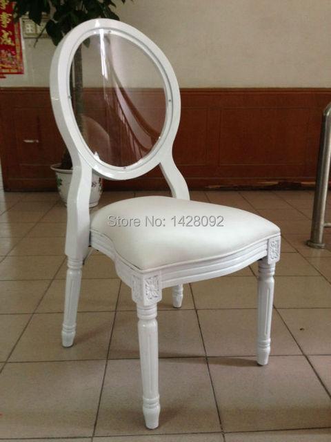 crystal transparent back wood Lois wedding chair LQ-L5881