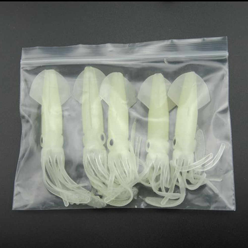 5 pz/lotto 8.2g/16 centimetri Nottilucenti Morbido Squid Esche Polpo Esche Swimbait Acqua Salata Polpo Squid Skirt la Luminoso Esche esche