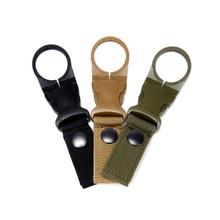 Mochila táctica militar con gancho para botella de agua Bushcraft, herramienta de correas EDC para exteriores, accesorio para bicicleta, mosquetón para escalar