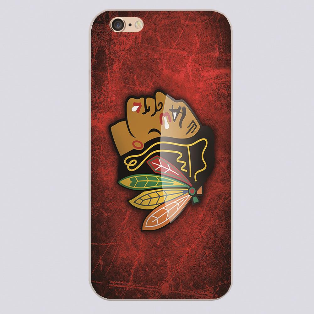 nhl chicago blackhawks hd Design black skin phone cover cases for iphone 4 5 5c 5s 6 6s 6plus Hard Shell