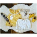 2016 NEWST VERANO ropa de BEBÉ NIÑAS establece MINI RODNI zapatos bebe KIKIKIDS CORTOCIRCUITOS DEL BEBÉ Camisetas 2 UNIDS ROPA CONJUNTOS