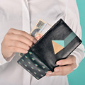 Kiitos ПОВЕЗЛО серии моды короткий складной PU кожаный Бумажник женщины кошелек шесть стиль