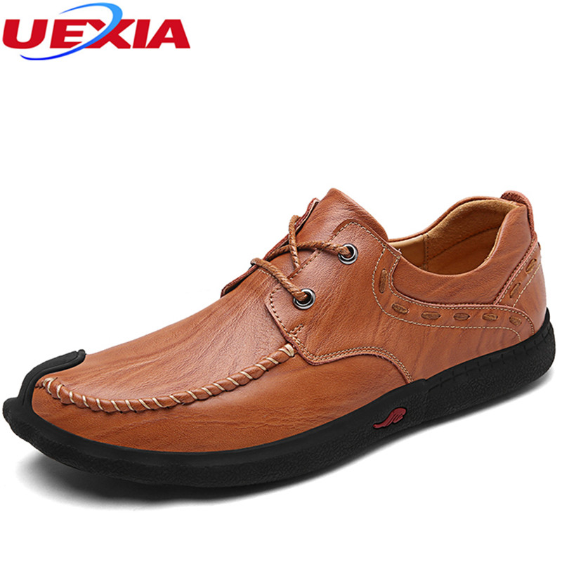 New Casual Shoes Men Comfortable Oxfords Outdoor Sport Handmade Soft Leather Flats Lace-Up Driving Business Footwear Moccasins new branded men s casual full grain leather oxfords shoes wedding dress shoes handmade business lace up brogue shoes for men
