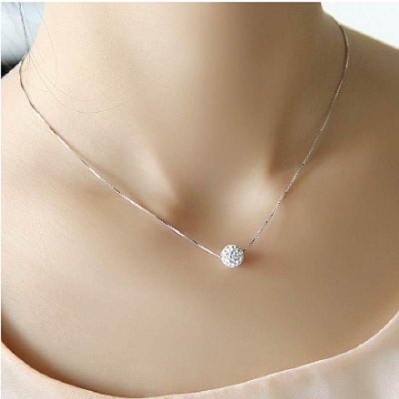 SHUANGR Silver Necklace...
