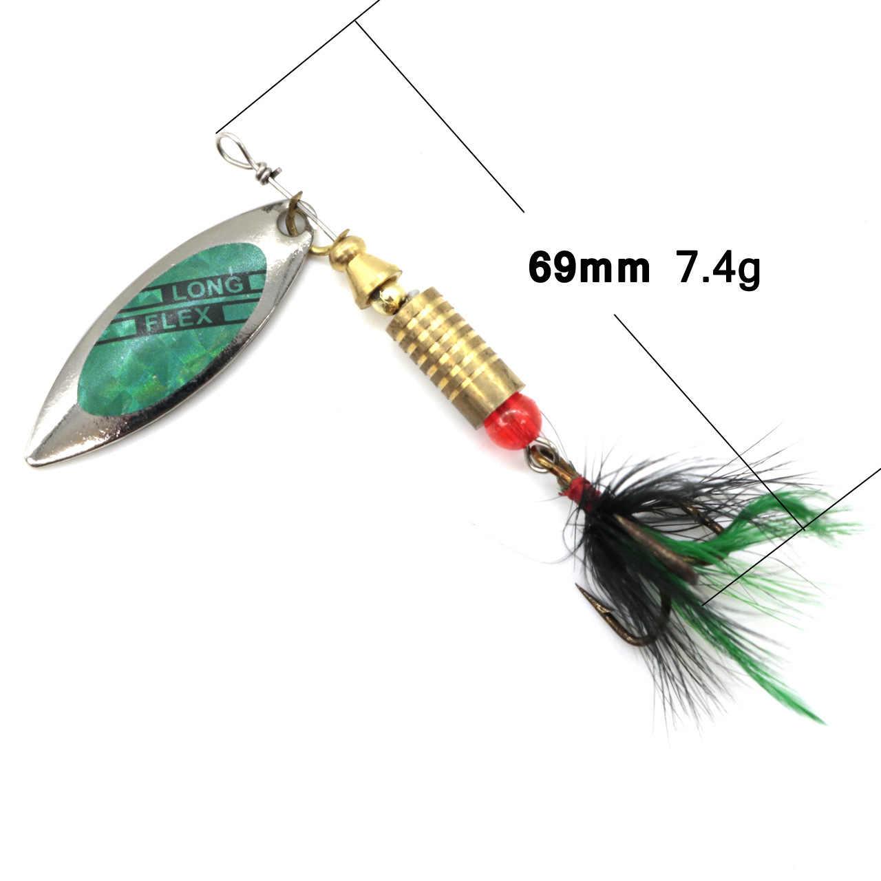 Lushazer рыболовная ложка Спиннеры Морская Рыбалка приманки ложки искусственные приманки рыба карп рыболовные аксессуары